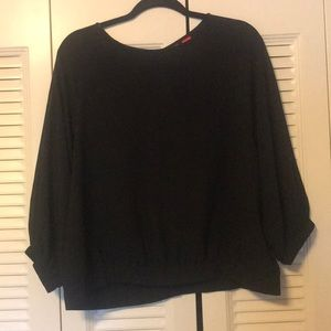 Buckle daytrip beaded long sleeve sheer blouse XL